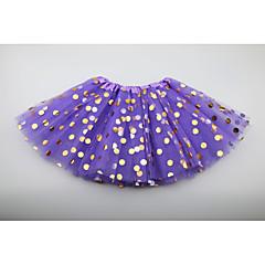 お買い得  女児 スカート-ソリッド 女の子の 日常 お出かけ ポリエステル 夏 ノースリーブ ドレス キュート 活発的 ルビーレッド ピンク ベージュ パープル フクシャ