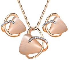baratos Conjuntos de Bijuteria-Mulheres Opala / Opal Synthetic Conjunto de jóias - Opala Simples, Doce Incluir Dourado Para Festa / Diário / Brincos