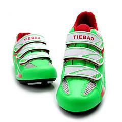 billige Sykkelsko-Tiebao® Veisykkelsko Karbonfiber Anti-Skli, Anvendelig Sykling Grønn Herre
