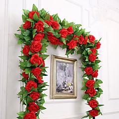 abordables Fleurs Artificielles-Fleurs artificielles 1 Une succursale Fête / Soirée Mariage Roses Guirlande et Fleur Murale