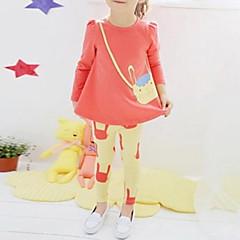 tanie Odzież dla dziewczynek-Brzdąc Nadruk Długi rękaw Długi Komplet odzieży