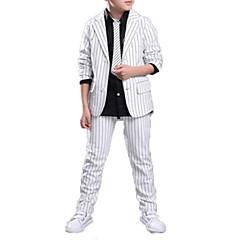 billige Tøjsæt til drenge-Børn Drenge Afslappet / Gade Skole Ensfarvet / Stribet Trykt mønster Langærmet Bomuld Tøjsæt