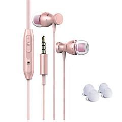 billiga Headsets och hörlurar-I öra Kabel Hörlurar Dynamisk Stål + Plast Mobiltelefon Hörlur Magnetattraktion / Med volymkontroll / mikrofon headset