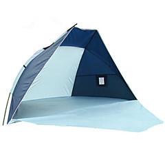 billige Telt og ly-3-4 personer Camping Pute Strandtelt camping Tent Brette Telt Ultraviolet Motstandsdyktig til Camping & Fjellvandring Andre Material CM