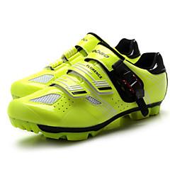 billige Sykkelsko-Tiebao® Mountain Bike-sko Karbonfiber Anti-Skli, Anvendelig, Pusteevne Sykling Svart / Rød / Svart / Gul Herre