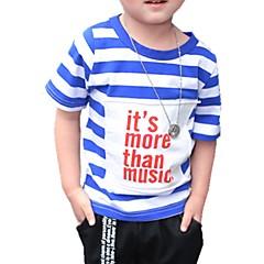 billige Overdele til drenge-Baby Drenge Aktiv Daglig Stribet Hul Kortærmet Normal Bomuld T-shirt Grøn