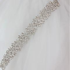 Χαμηλού Κόστους Κορδέλες για πάρτι-Μεταλλικό Γάμου / Ειδική Περίσταση Ζώνη Με Κρύσταλλοι / Στρας Γυναικεία Ζώνες για Φορέματα