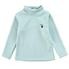 tanie Odzież dla dziewczynek-Brzdąc Dla dziewczynek Jendolity kolor Długi rękaw Bawełna Koszula / Urocza