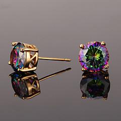 cheap -AAA Cubic Zirconia Stud Earrings / Earrings - Zircon, Cubic Zirconia Vintage, Party, Work Gold / Silver For