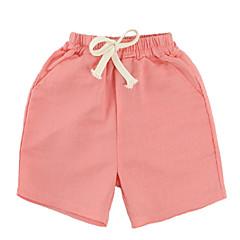 billige Babyunderdele-Baby Unisex Basale Ensfarvet Polyester Shorts Navyblå