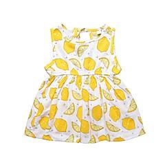 baratos Roupas de Meninas-Bébé Para Meninas Limão Fruta Sem Manga Vestido
