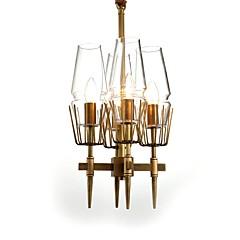 billiga Dekorativ belysning-JLYLITE 4-Light Originella Ljuskronor Xelogen & Krypton Mässing Metall Ministil 110-120V / 220-240V Glödlampa inte inkluderad / E12 / E14 / SAA / FCC / VDE