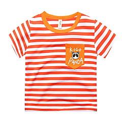 baratos Roupas de Meninos-Infantil Para Meninos Listrado Manga Curta Camiseta