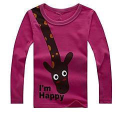 baratos Roupas de Meninos-Bébé Para Meninos / Para Meninas Básico Estampado Manga Curta Algodão Camiseta