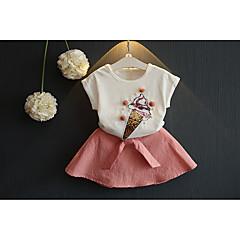 billige Tøjsæt til piger-Baby Pige Frugt Kortærmet Tøjsæt