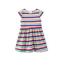 billige Pigekjoler-Børn / Baby Pige Stribet / Regnbue Kortærmet Kjole