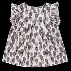 billige Pigetoppe-Børn Pige Trykt mønster Uden ærmer T-shirt