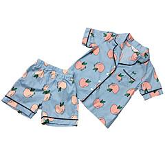 billige Tøjsæt til piger-Baby Pige Aktiv Frugt Kortærmet Tøjsæt