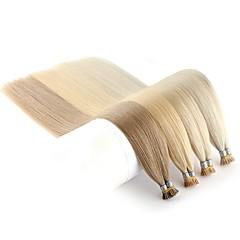 Χαμηλού Κόστους Εξτένσιονς μαλλιών με κόλλα-Neitsi Τούφα / Άκρη Ι Επεκτάσεις ανθρώπινα μαλλιών Ίσιο Μαύρο Ξανθό Εξτένσιον από Ανθρώπινη Τρίχα Remy Τρίχα Ινδική 1pack επέκταση / Νέα άφιξη / Hot Πώληση Γυναικεία / Γυναίκα