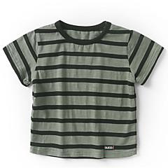 baratos Roupas de Meninos-Infantil / Bébé Para Meninos Listrado / Estampa Colorida Manga Curta Camiseta