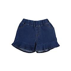 tanie Odzież dla dziewczynek-Dzieci Dla dziewczynek Aktywny / Podstawowy Szkoła Niebiesko-biały Jendolity kolor Niejednolita całość Bawełna Szorty
