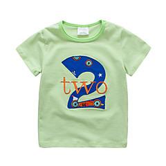 baratos Roupas de Meninos-Infantil / Bébé Para Meninos Listrado / Retalhos Manga Curta Camiseta