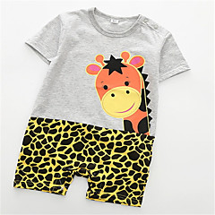 billige Babytøj-Baby Unisex Leopard Kort Ærme En del