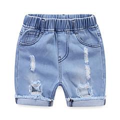 baratos Roupas de Meninos-Infantil / Bébé Para Meninos Sólido Jeans