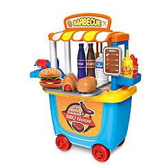 billiga Leksakskök och -mat-Toy köksutrustning BBQ House Föräldra-Barninteraktion ABS + PC Barn Present 33 pcs
