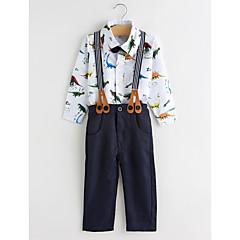billige Tøjsæt til drenge-Baby Drenge Simple / Afslappet Fest Dyr Langærmet Bomuld Tøjsæt