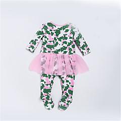 billige Babytøj-Baby Pige Geometrisk Langærmet En del