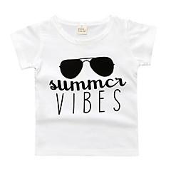 tanie Odzież dla chłopców-Dzieci Dla chłopców Podstawowy Geometryczny Nadruk Krótki rękaw T-shirt