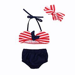 baratos Roupas de Meninas-Bébé / Bebê Para Meninas Praia Listrado / Estampado Roupa de Banho