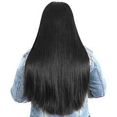 cheap Wigs & Hair Pieces-Human Hair Unprocessed Human Hair Lace Front Wig Peruvian Hair Straight Wig Side Part 250% Density with Baby Hair Natural Hairline For Black Women Unprocessed Bleached Knots Natural Women's Medium