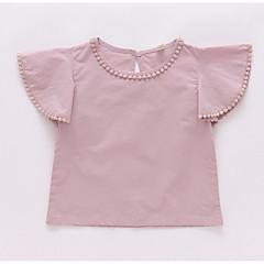 tanie Odzież dla dziewczynek-Dzieci Dla dziewczynek Podstawowy Jendolity kolor Krótki rękaw Bawełna Koszula