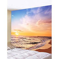 tanie Dekoracje ścienne-Motyw plażowy / Krajobraz Dekoracja ścienna Poliester Nowoczesny Wall Art, Ścienne Gobeliny Dekoracja