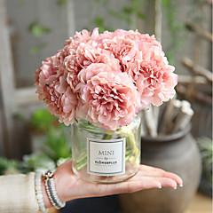 billige Kunstige blomster-Kunstige blomster 5 Gren Bryllup Bryllupsblomster Peoner Evige blomster Bordblomst