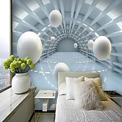 billige Tapet-bakgrunns / Veggmaleri Lerret Tapetsering - selvklebende nødvendig Stripet / Art Deco / 3D