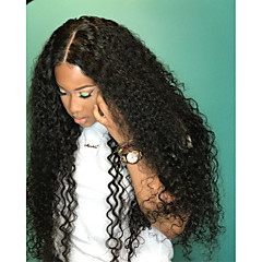 cheap Wigs & Hair Pieces-Remy Human Hair Lace Front Wig Brazilian Hair Curly Wig 180% Density with Baby Hair 100% Virgin Women's Long Human Hair Lace Wig beikashang