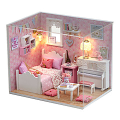 Χαμηλού Κόστους Κουκλόσπιτα-Κουκλόσπιτο Λατρευτός / Χειροποίητο Σπίτι / Δημιουργικό 1pcs Κομμάτια Παιδικά / Ενήλικες Δώρο
