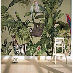 billige Tapet-bakgrunns / Veggmaleri Lerret Tapetsering - selvklebende nødvendig Art Deco / Trær / blader / Mønster