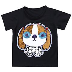 tanie Odzież dla chłopców-Dzieci / Brzdąc Dla chłopców Aktywny / Podstawowy Urlop Nadruk Cekiny Krótki rękaw Bawełna T-shirt