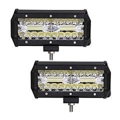 voordelige Autolampen-2pcs Automatisch Lampen 120W Geïntegreerde LED 12000lm 40 LED Exterieur Lights For Universeel 2018