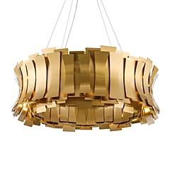 billiga Dekorativ belysning-QIHengZhaoMing 10-Light Ljuskronor Glödande Elektropläterad Metall 110-120V / 220-240V Varmt vit Glödlampa inkluderad / G9