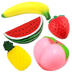 billige Originale moroleker-LT.Squishies Klemmeleker / Stresslindrende leker Frukt Stress og angst relief / Dekompresjon Leker 5 pcs Barne Alle Gave