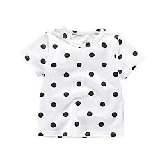 billige Babyoverdele-Baby Pige Prikker / Geometrisk Kortærmet T-shirt