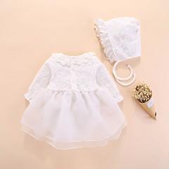 billige Babytøj-Baby Pige Aktiv / Basale Ensfarvet Net Halvlange ærmer Bomuld En del