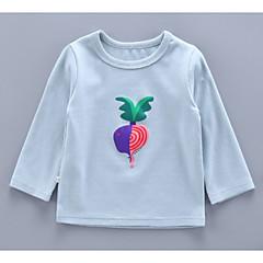 billige Babyoverdele-Baby Pige Basale Trykt mønster Langærmet Bomuld T-shirt