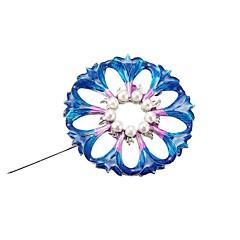 billige Motebrosjer-Dame Skulptur Nåler - Imitert Perle Blomst Stilfull, Klassisk Brosje Blå LED Til Daglig