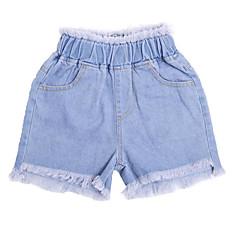 billige Jenteklær-Barn Jente Ensfarget Jeans